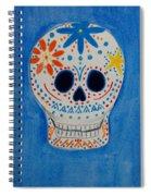 Flower Skull Spiral Notebook