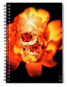 Flower Skull Spiral Notebook
