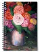 Flower Spirals Spiral Notebook