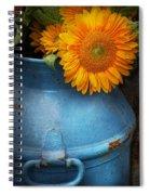 Flower - Sunflower - Little Blue Sunshine  Spiral Notebook