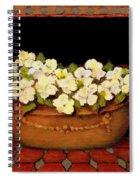 Flower Tub Rose Bay Spiral Notebook