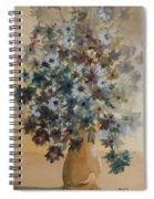 Flower Vase Original Watercolor Spiral Notebook