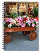 Flower Wagon Spiral Notebook