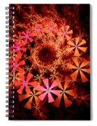 Flower Whirlpool Spiral Notebook