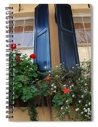 Flower Window In Charleston Sc Spiral Notebook