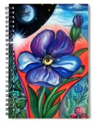 Flower With Eye. Plant From Space Spiral Notebook