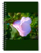 Flower With Painted Look Spiral Notebook