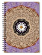 Flower With Wood Embroidery Spiral Notebook