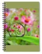 Flowerdrop Spiral Notebook