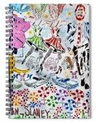 Flowered Mural Spiral Notebook