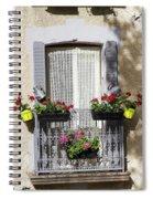 Flowered Window Spiral Notebook