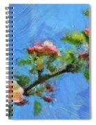 Flowering Apple Branch Spiral Notebook