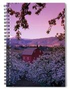 Flowering Apple Trees, Distant Barn Spiral Notebook