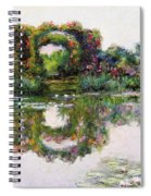 Flowering Arches, Giverny Spiral Notebook