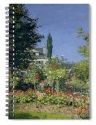 Flowering Garden At Sainte-adresse Spiral Notebook