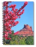 Flowering Tree - Sedona Red Rock Spiral Notebook