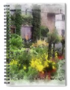 Flowers Along The Pathway Spiral Notebook