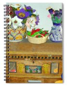 Flowers And Antique Chest Spiral Notebook