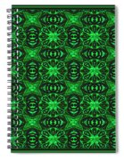 Flowers And Bees Abstract Spiral Notebook