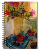 Flowers And Figs Spiral Notebook