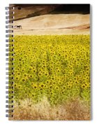 Flowers And Horses Near Setinil Spain Spiral Notebook