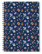 Flowers And Hummingbirds 2 Spiral Notebook