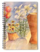 Flowers And Terra Cotta Spiral Notebook