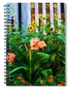 Flowers At The Fountain Of The Plaza Hotel Spiral Notebook