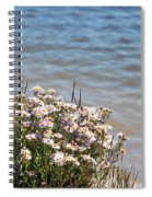 Flowers At The Lake Spiral Notebook