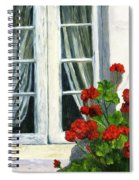 Flowers At The Window Spiral Notebook
