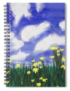 Flowers Bright Field Spiral Notebook