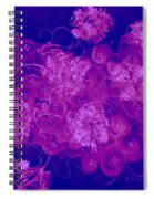 Flowers, Buttons And Ribbons -shades Of  Blue To Fuchsia Spiral Notebook