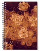 Flowers, Buttons And Ribbons -shades Of Burnt Umber Spiral Notebook