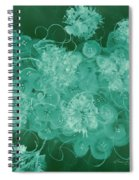 Flowers, Buttons And Ribbons -shades Of Green Spiral Notebook