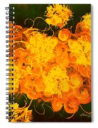 Flowers, Buttons And Ribbons -shades Of Orange/yellow  Spiral Notebook