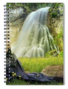 Flowers By The Falls Spiral Notebook