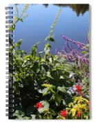 Flowers By The Pond Spiral Notebook