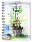 Flowers By The Pool Spiral Notebook