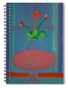 Flowers In A Bay Window Spiral Notebook