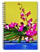 Flowers In A Blue Dish - Japanese House Spiral Notebook