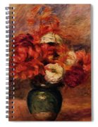 Flowers In A Green Vase Dahlilas And Asters Spiral Notebook