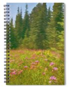 Flowers In A Mountain Glade Spiral Notebook