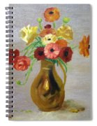 Flowers In A Pitcher -11 Yrs Old Spiral Notebook