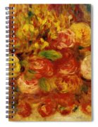 Flowers In A Vase With Blue Decoration Spiral Notebook