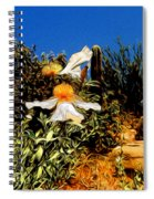 Flowers In Abstract 15 Spiral Notebook