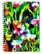 Flowers In Abstract 18 Spiral Notebook
