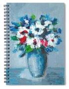 Flowers In Blue Vase Spiral Notebook