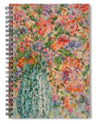 Flowers In Crystal Vase. Spiral Notebook