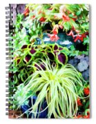 Flowers In Garden 3 Spiral Notebook