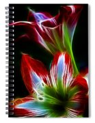 Flowers In Green And Red Spiral Notebook